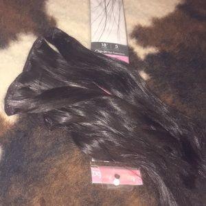 """Accessories - 18"""" 5 piece dark brown hair extensions"""